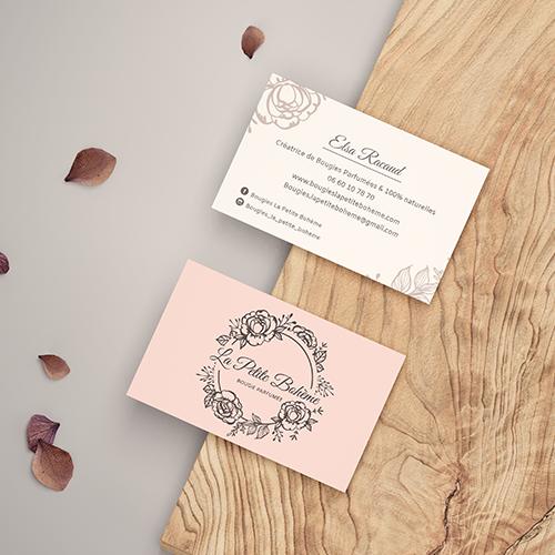 Réalisation logo, et etiquette Bougies artisanales Studio graphique
