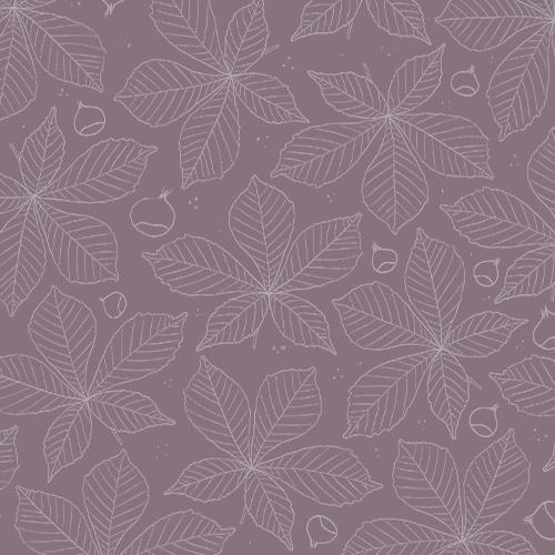 Création logo, identité visuelle et étiquette pour pot de miel d'une miellerie à saint jean du Gard producteur de miel dans les Cévennes motif violet avec dessin de feuille de chataignier