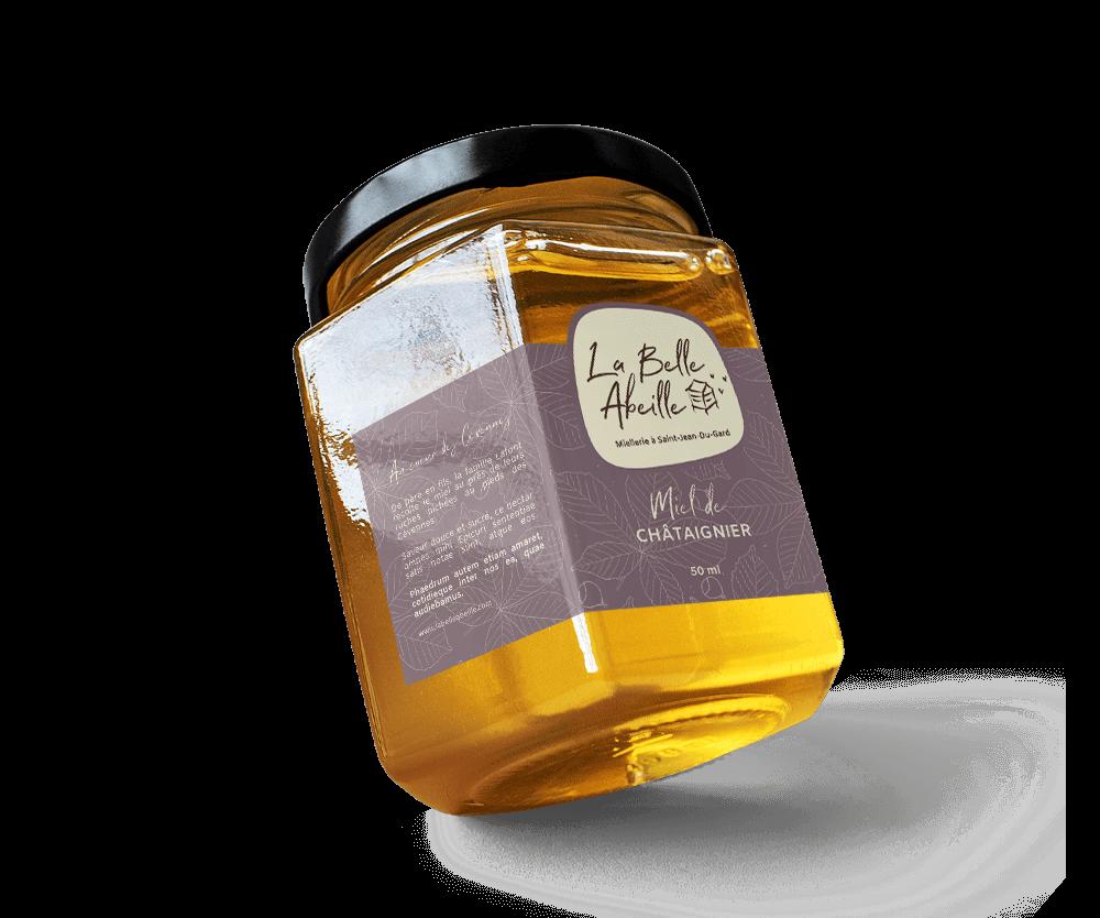 création étiquette de miel apiculteur dans le Gard