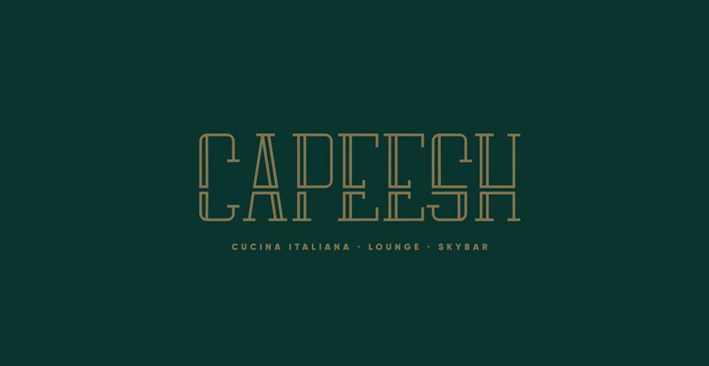 Capeesh identité graphique inspirante de ce restaurant italien loin des clichés