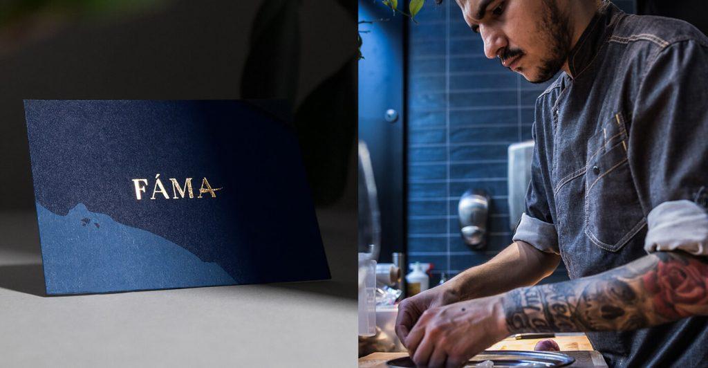 Fáma identité graphique inspirante  restaurant viril et classe