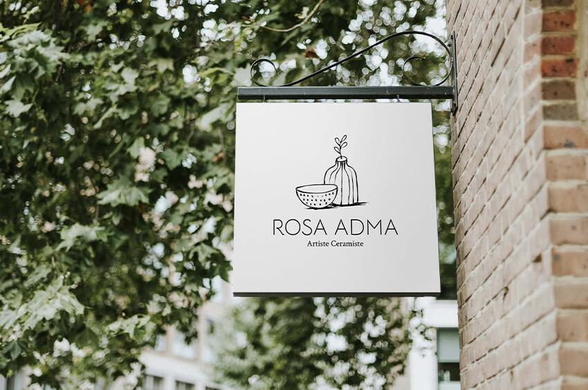 rosa adma design identité visuelle céramiste produit artisanaux local artisanat poterie céramique fait-main made in France