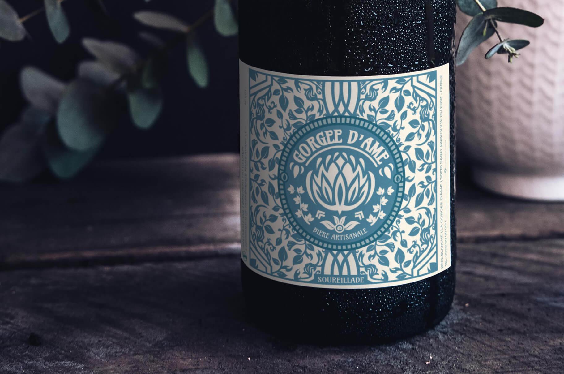 la gorgée d'âme brasserie artisanale dans les cévennes étiquette design packaging identité visuelle logo Cévennes Gard bière artisan local produits locaux